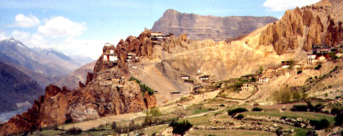 Dankhar gompa in the Spiti Valley of the Indian Himalayas