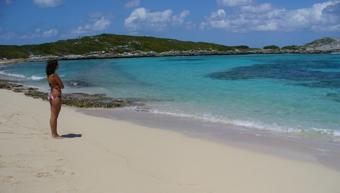 Playa Los Lirios on the backside of Icacos Island puerto rico