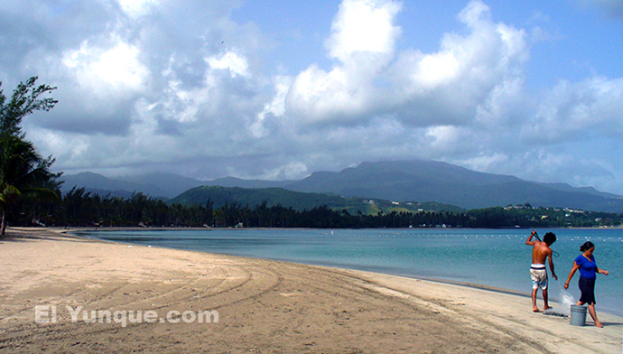 luquillo beach is east of San Juan