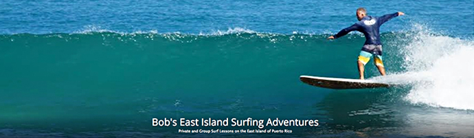 learn to surf with east island adventures and Bob
