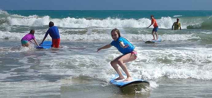 surfing klessons for kids