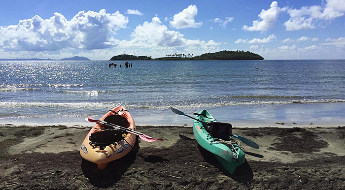 Kayaking out to Cayo Santiago and monkey island