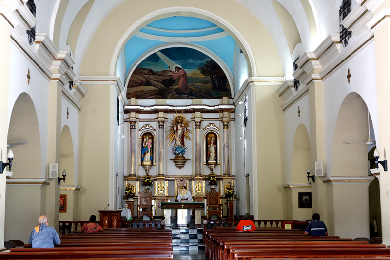 Catholic church alter in Coamo puerto rico