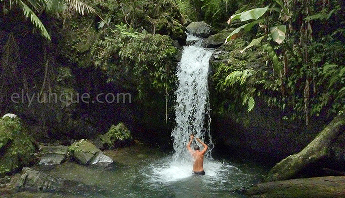 Juan Diego waterfalls in the El Yunque National Rainforest Puerto Rico
