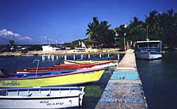 Ferry boat dock for boat to Gilligans Island Puerto Rico in Guanica