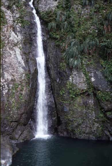 Salto Dona Juana waterfalls in the Toro Negro Forest of the Cordillera Central in Puerto Rico