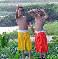 Maunabo kids on the beach
