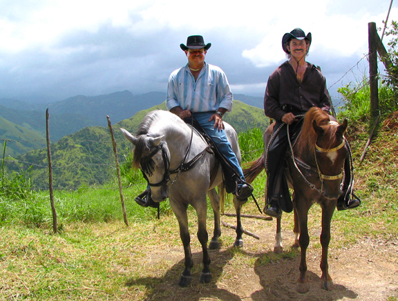 Hoese back riding in the mountains of Puerto Rico