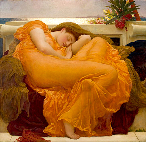 Flaming June painting in the Ponce Museum of art