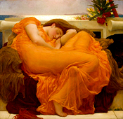 Flaming June painting in the Ponce Museum