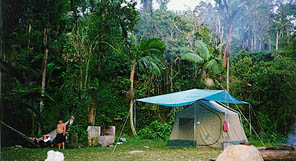 camping in the Toro Negro Forest in Puerto Rico