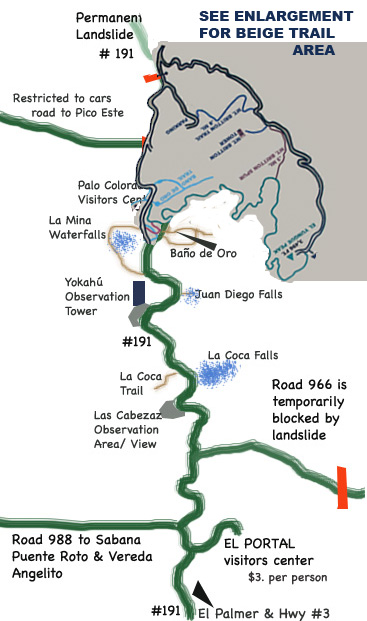 trail map of el yunque puerto rico rain forest